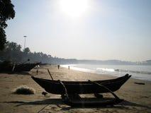 Früher Strand-Morgen stockbild