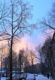 Früher Winter landschaft Stockfotos