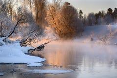 Früher Wintermorgen Stockfoto