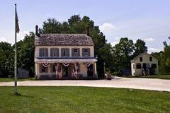 Frühes amerikanisches Haus Stockbild