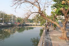 Frühes Moring in Nakhon Pathom lizenzfreie stockfotos
