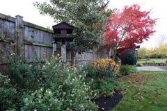 Frühherbstfarben im Garten lizenzfreie stockfotografie