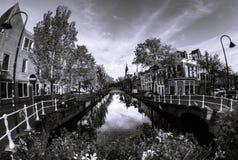 Frühherbstmorgen in Delft Lizenzfreie Stockbilder