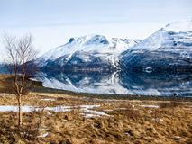 Frühjahr in den Lyngen-Alpen, Norwegen Lizenzfreie Stockbilder