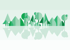 Frühjahr in einer dänisches Wald-? hellgrünen Buche treibt ganz vorbei Blätter Lizenzfreie Stockbilder