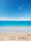Frühjahrsferien 2015 auf dem Sand Lizenzfreies Stockfoto