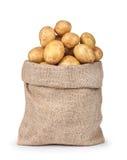 Frühkartoffeln in der Tasche Lizenzfreie Stockfotos