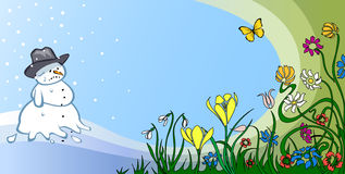 Frühling besiegt Winter Lizenzfreie Stockfotos