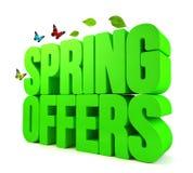 Frühling bietet grünes Wort 3D an Lizenzfreies Stockfoto