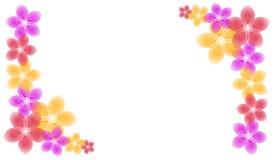 Frühling blüht Eckstück-Ränder Stockbild
