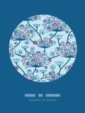 Frühling blüht Kreis-Dekor-Muster-Hintergrund lizenzfreie abbildung