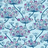 Frühling blüht nahtlosen Muster-Hintergrund vektor abbildung