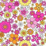 Frühling blüht nahtlosen Wiederholungs-Muster-Vektor Illu stock abbildung
