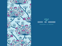 Frühling blüht nahtloses horizontales Muster stock abbildung