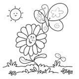 Frühling - bw-Abbildung Stockbild