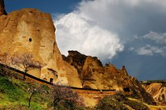 Frühling in Cappadocia Die Türkei Stockfoto