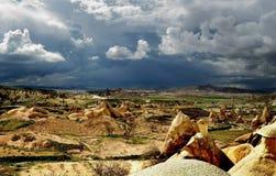 Frühling in Cappadocia Die Türkei Stockfotografie