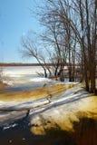 Frühling Das letzte Eis auf dem Fluss Frühling 2013 Dvina-Fluss Vitebsks Weißrussland Lizenzfreie Stockbilder
