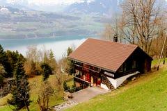 Frühling in den Schweizer Alpen Stockfotografie