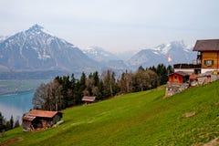 Frühling in den Schweizer Alpen Stockfoto