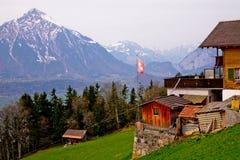 Frühling in den Schweizer Alpen Lizenzfreie Stockfotografie