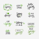 Frühling, der Grün- und Schwarzsatz beschriftet Lizenzfreies Stockfoto