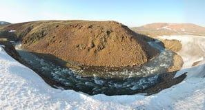 Frühling in der Tundra (Panorama von Nord-Sibirien) Stockfotos