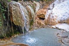 Frühling des thermalwassers von bagni san filippo stockbild bild