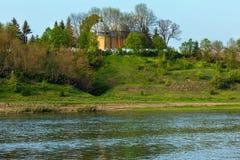 Frühling Dnister-Flussschlucht Stockbild