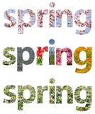 Frühling fasst Zusammenfassung ab Stockbilder