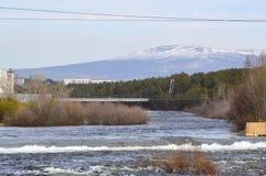 Frühling Fluss Niva Russland Stockfotografie