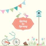 Frühling hat entsprungene Vektor-Illustration Stockfotografie