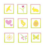 Frühling Ikons Stockfoto