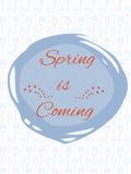 Frühling ist kommendes Plakat Stockbilder