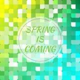 Frühling kommt entziehen Sie Hintergrund Lizenzfreies Stockfoto