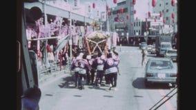 Frühling Mikoshi-Parade stock footage