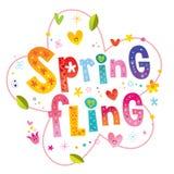Frühling schleudern Briefgestaltung lizenzfreie abbildung