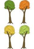 Frühling, Sommer und Autumn Trees Lizenzfreie Stockfotografie