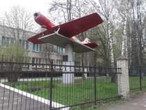 Frühling, Tula, Architektur, Monument, Flugzeug lizenzfreie stockfotografie