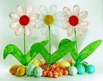 Frühling und Ostern-Dekoration Lizenzfreie Stockbilder