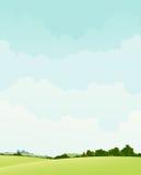 Frühling und Sommer-Land-Landschaft Stockbild