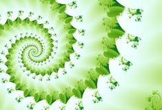 Frühlinggrüne Fractal-Welle Stockbild