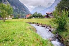 Frühlings-Alpen, die Schweiz Stockbild