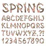 Frühlings-Alphabet Lizenzfreie Stockfotos