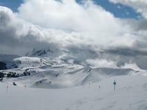 Frühlings-Bedingungen im Pfeifer - Gipfel Stockfoto
