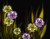 Frühlings-Blumen auf unscharfer Hintergrund-Abbildung Stockfotografie
