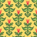 Frühlings-Blumen-iSeamless Muster-Vektor Stockfoto