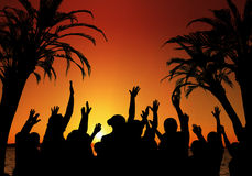 Frühlings-Bruch-Tanzparty Lizenzfreies Stockfoto