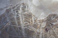 Frühlings-Eis-Muster u. Designe Stockbild