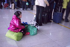 Frühlings-Festivalreisenansturm Peking China Lizenzfreie Stockfotografie